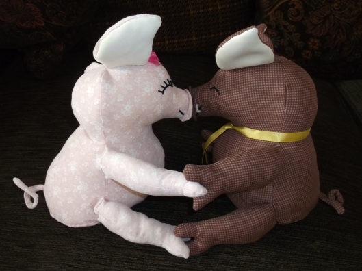 Designed and specially created by myself for iarxiv, Her two cute and cuddly characters, 'Piggy' and 'Puggy'